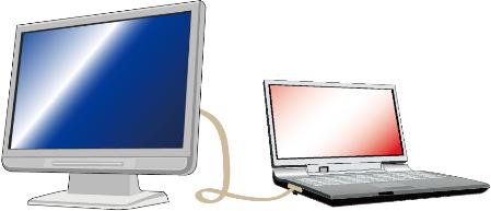 ノートパソコンと液晶モニター接続
