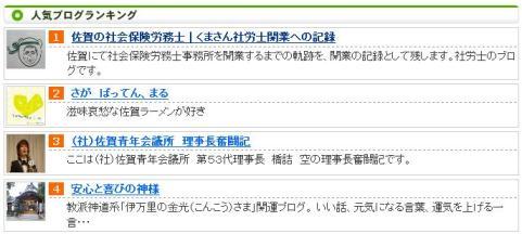 佐賀の人気ブログランキング1位